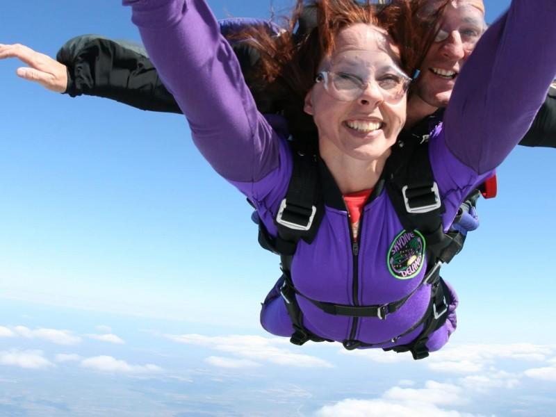 Skydiving near Prague